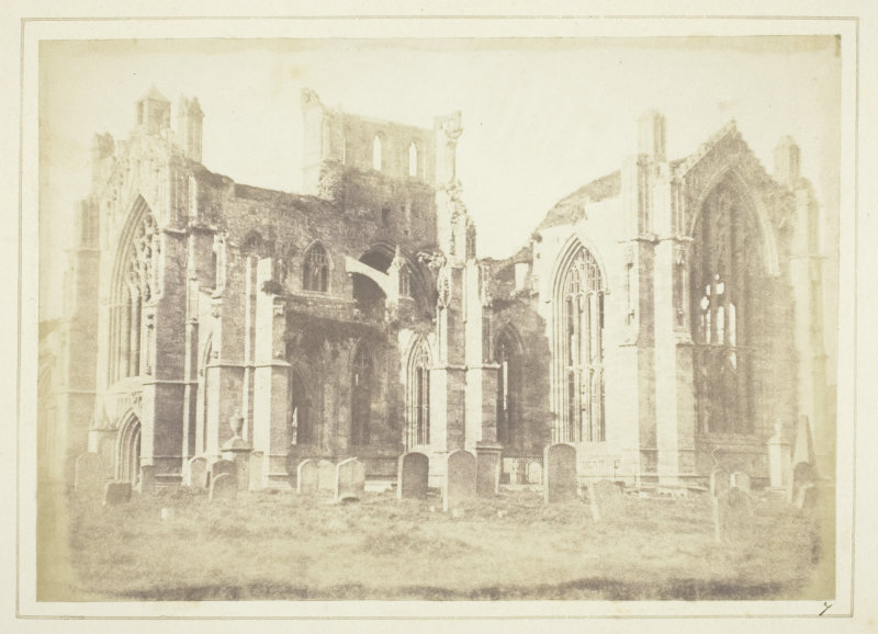 L'abbaye de Melrose à 1h d'Edimbourg en Ecosse - Photo de Henry Fox Talbot.