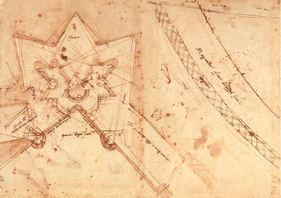 Michelangelo%2C studio per porta san gallo Miguel Ángel a 450 años de distancia