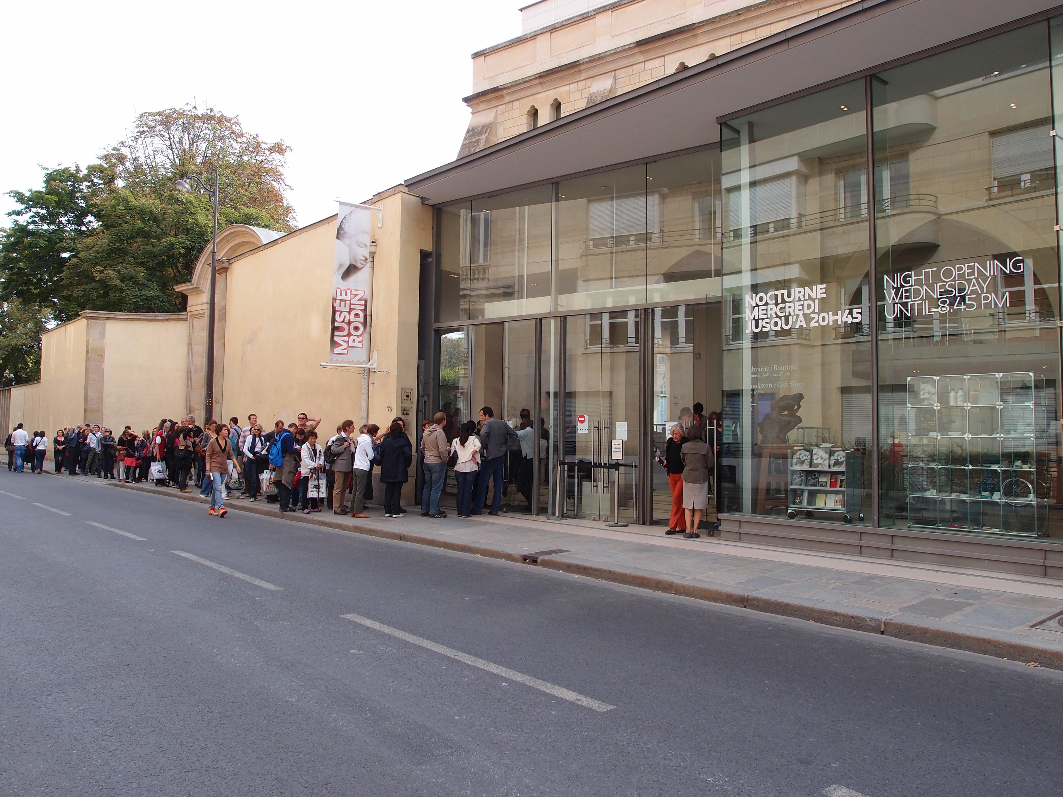 Entrée du musée Rodin à Paris
