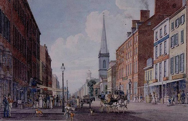 File:New York Broadway Trinity Church 1830.jpg