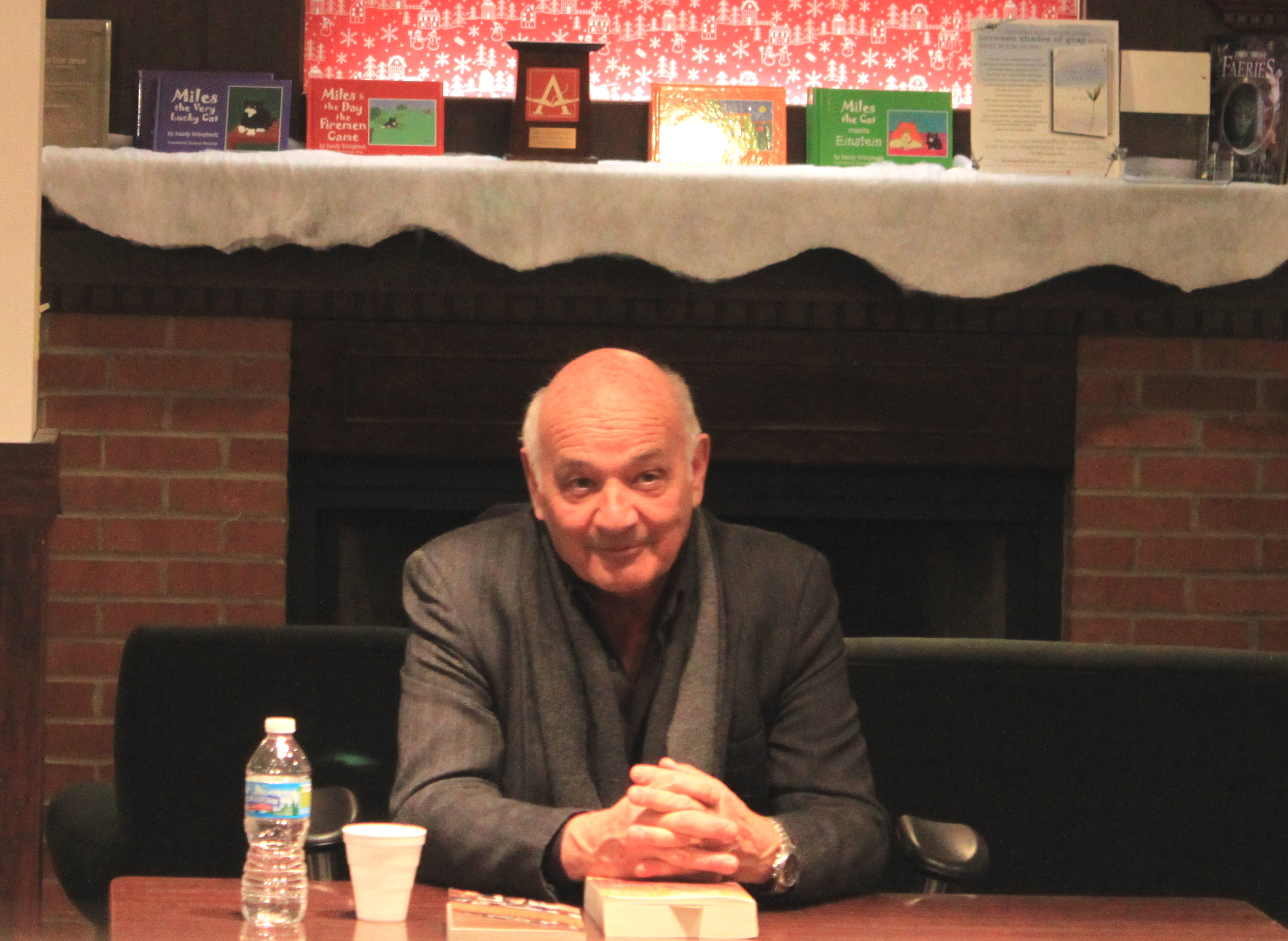 Delbanco at a book signing event, [[Ann Arbor, Michigan]], 15 February 2012