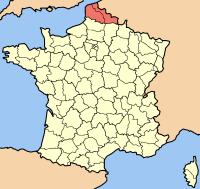 Localisation du Nord-Pas-de-Calais en France