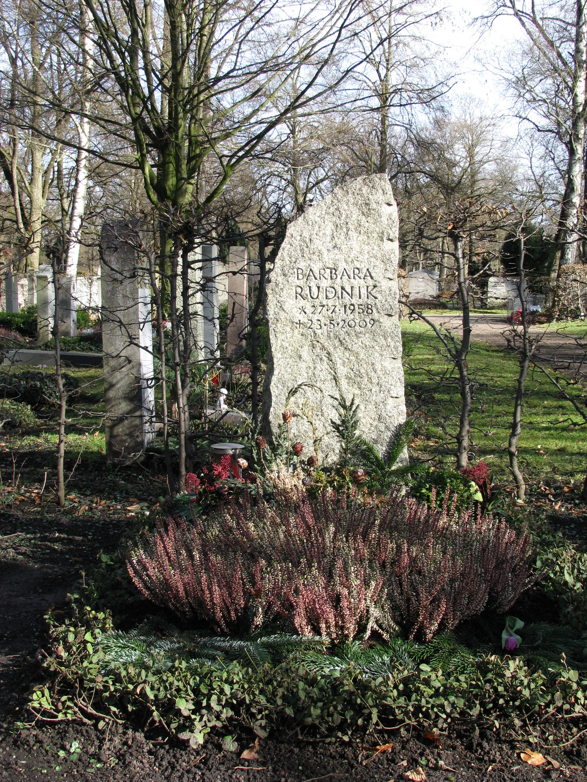 Grab von Barbara Rudnik