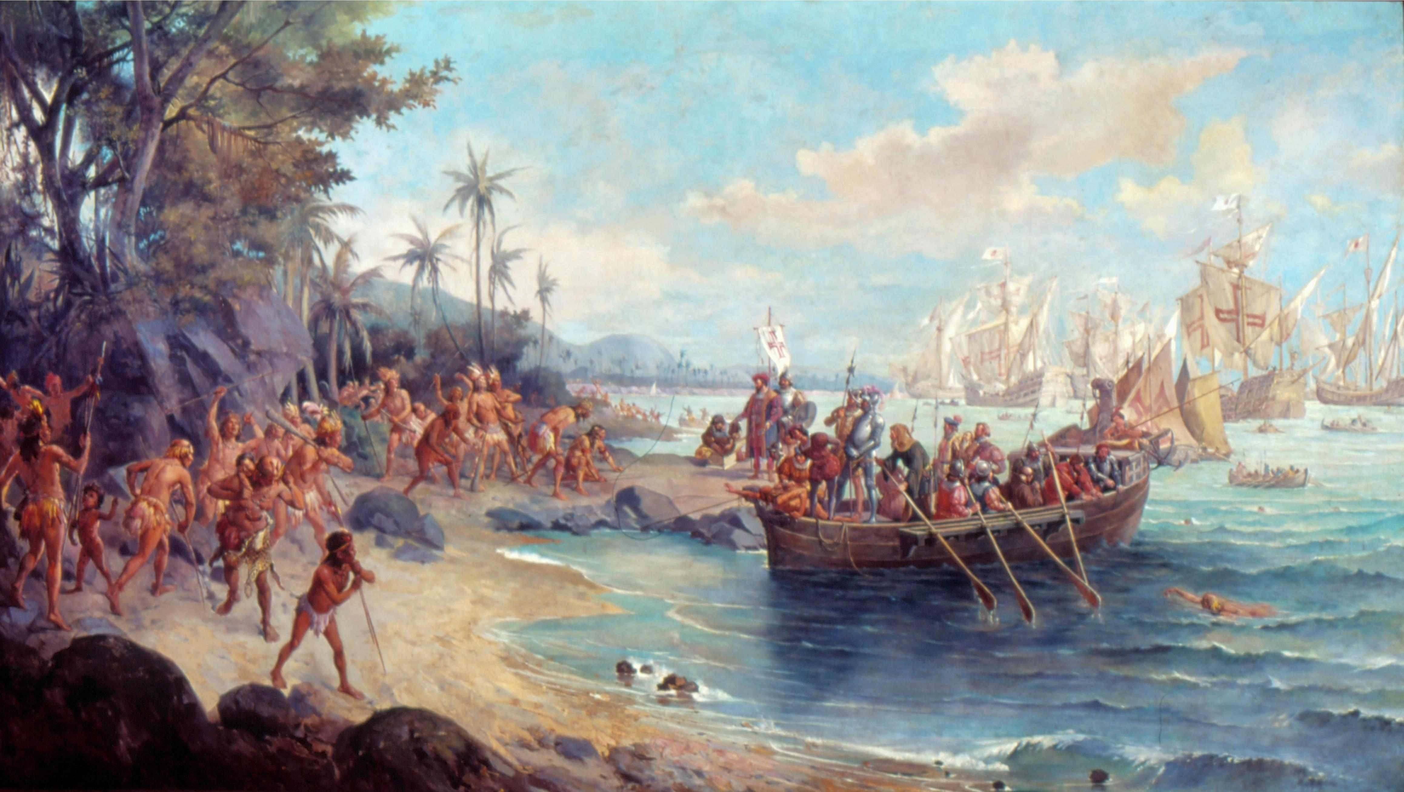 Desembarque De Pedro Alvares Cabral Em Porto Seguro Em 1500