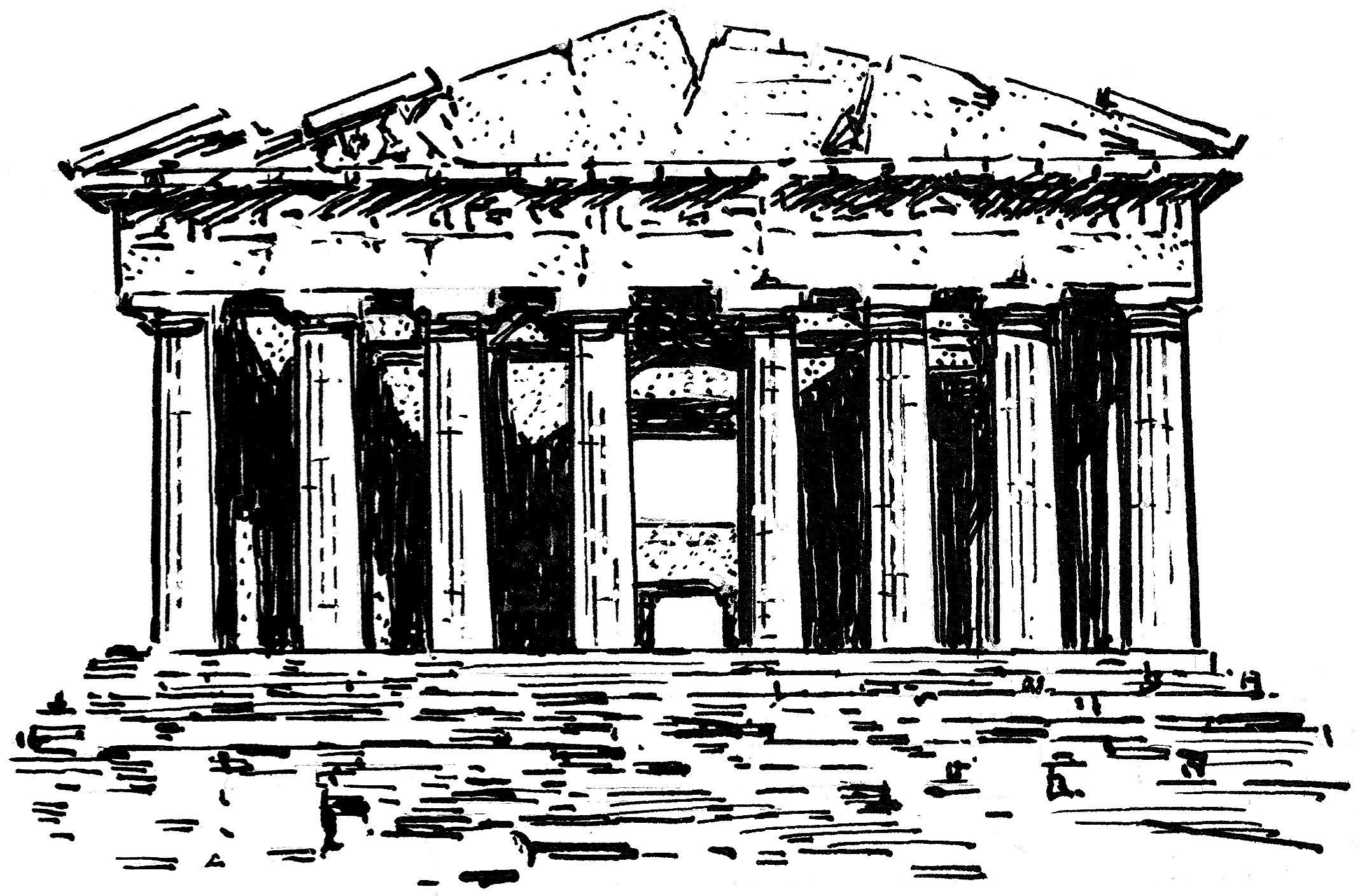 greek architecture coloring pages - photo#36