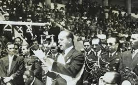 Inauguration of colonel Jacobo Arbenz as president of Guatemala in 1951. Posesionarbenz.jpg