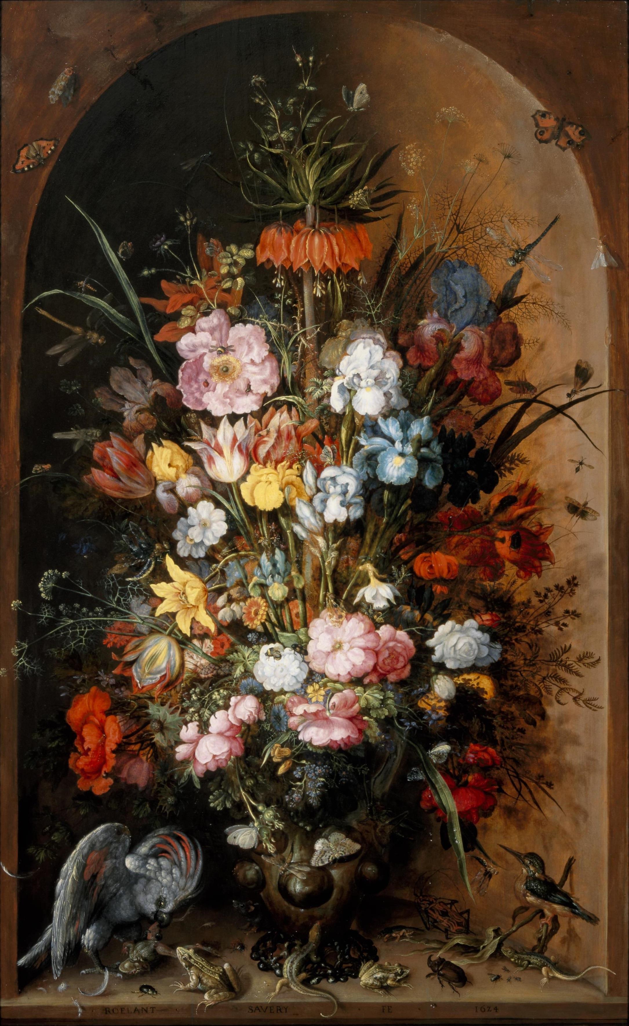 Groot bloemstuk met keizerskroon