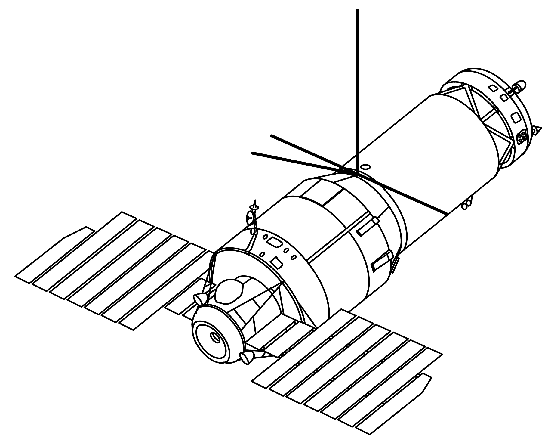 Easy Line Drawing Program : File salyut drawing wikimedia commons