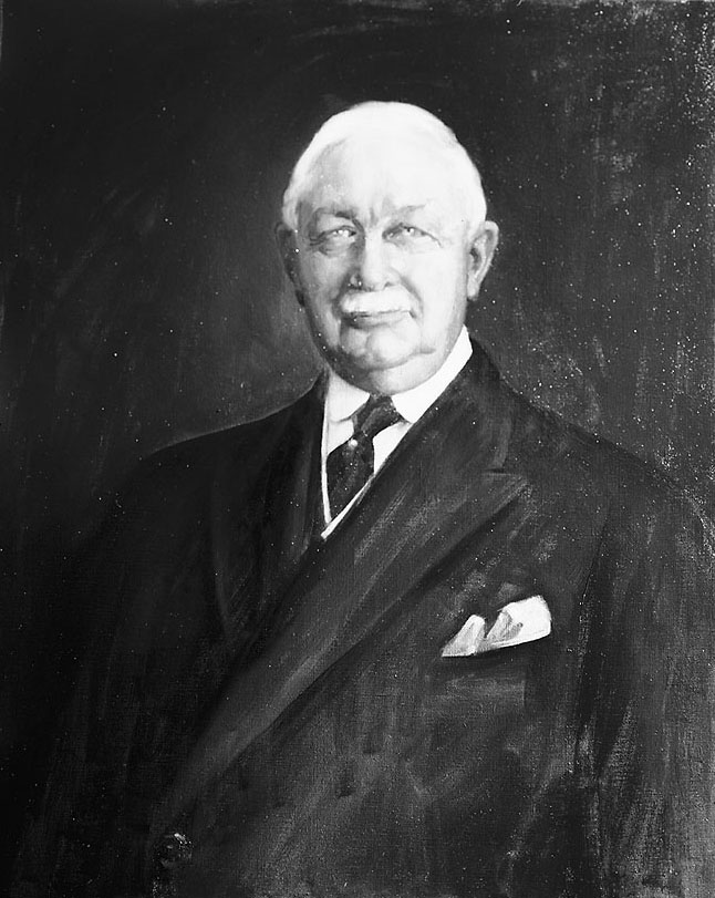 Picture of McBride's portrait painted by J. Russell