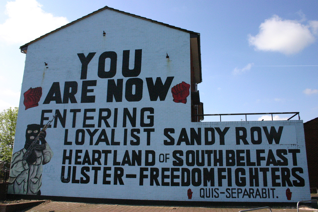 Sandy row wikiwand for Murals belfast