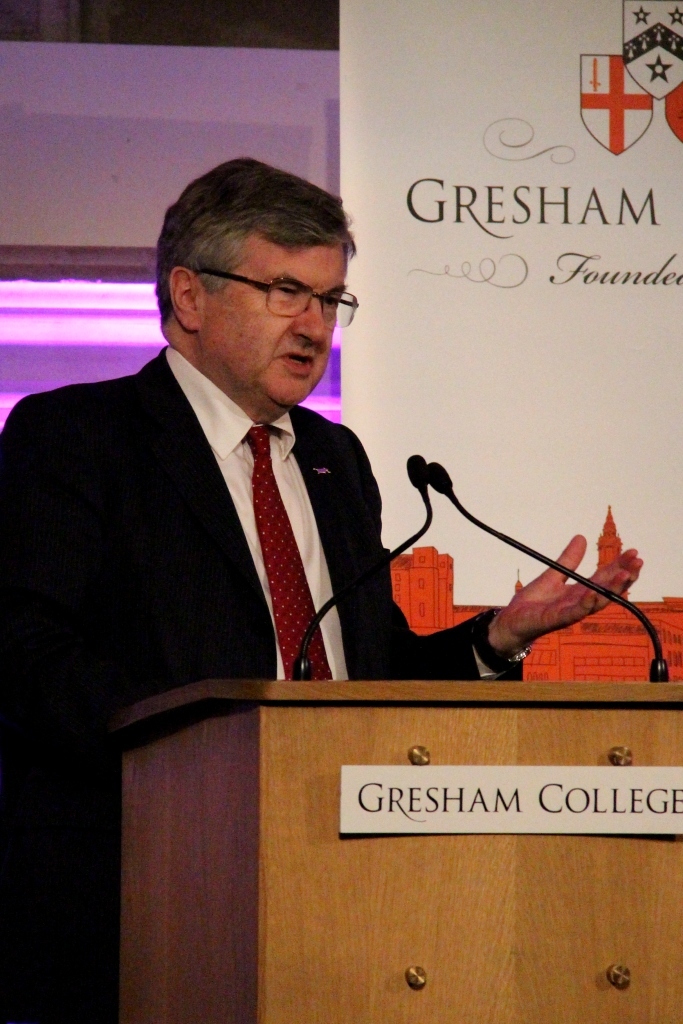 Evans in his role as Provost of [[Gresham College]]