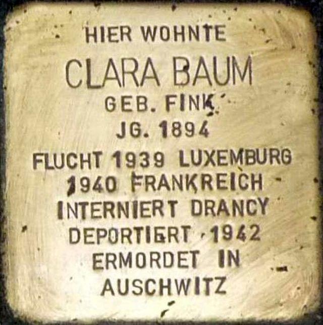 Stolperstein Alzey Clara Baum.jpg