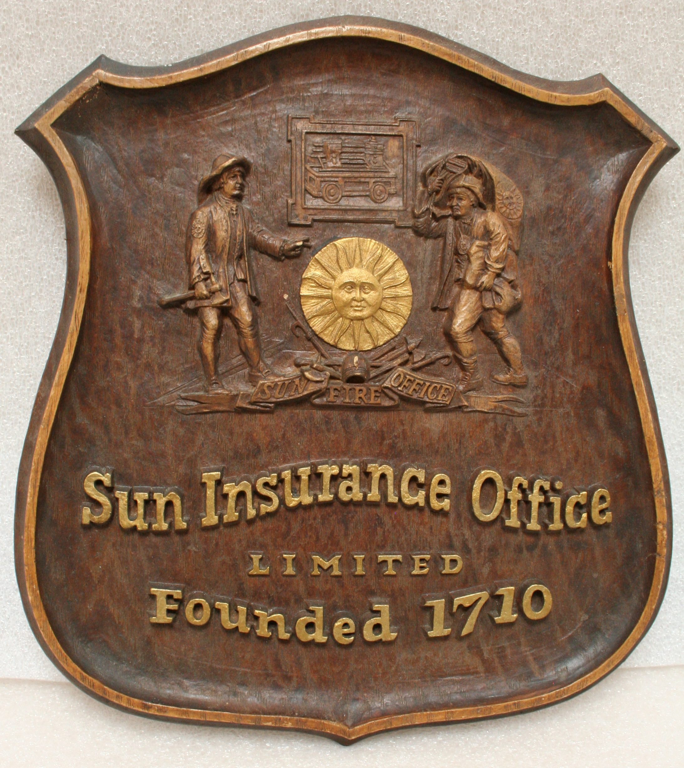 Sun Insurance Office sign from the 1880s