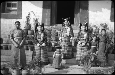An aristocratic family in Lhasa, Tibet in 1936. The Tsarong family.jpg