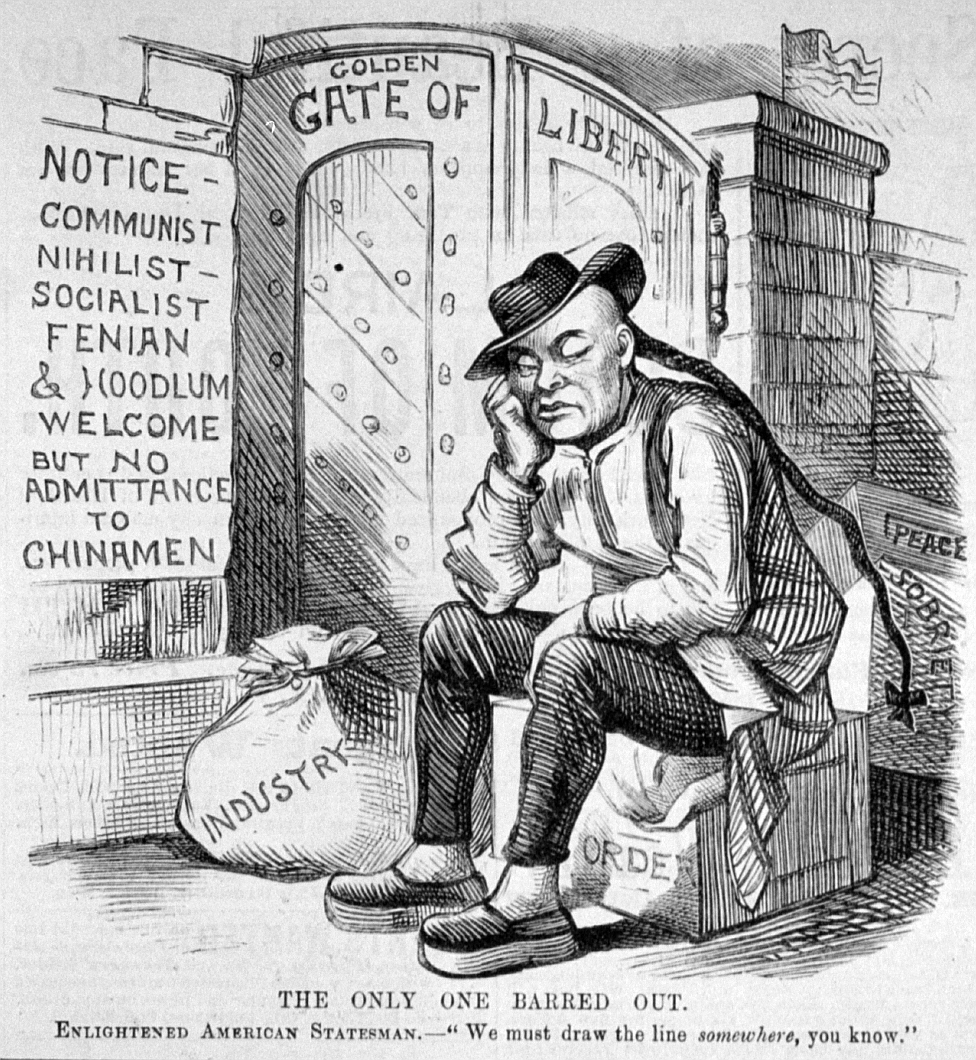 The Only One Barred Out, Political Cartoon, 1882