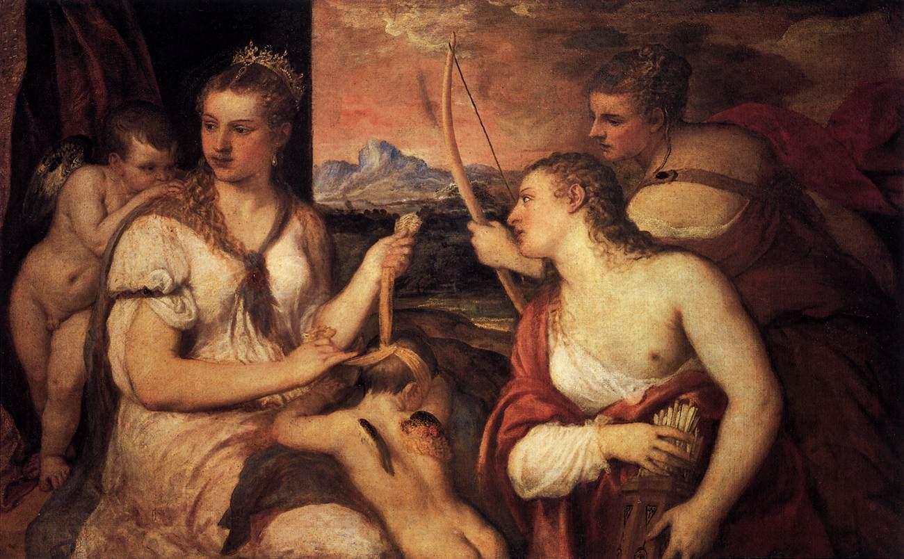 Titian venus blind folding cupid dating