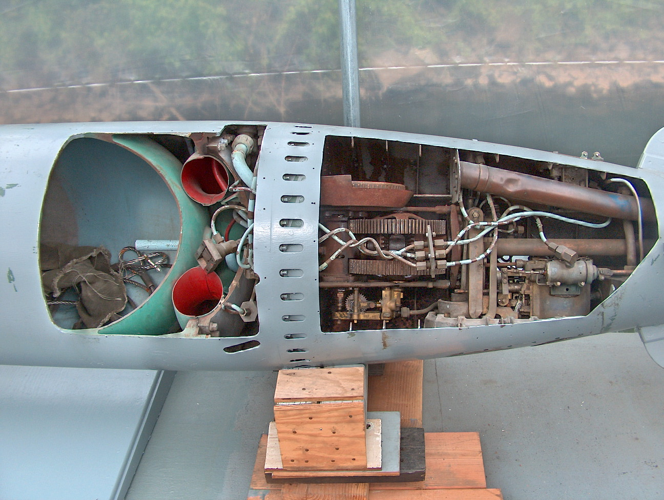 U.S. World War II PT boat torpedo on display