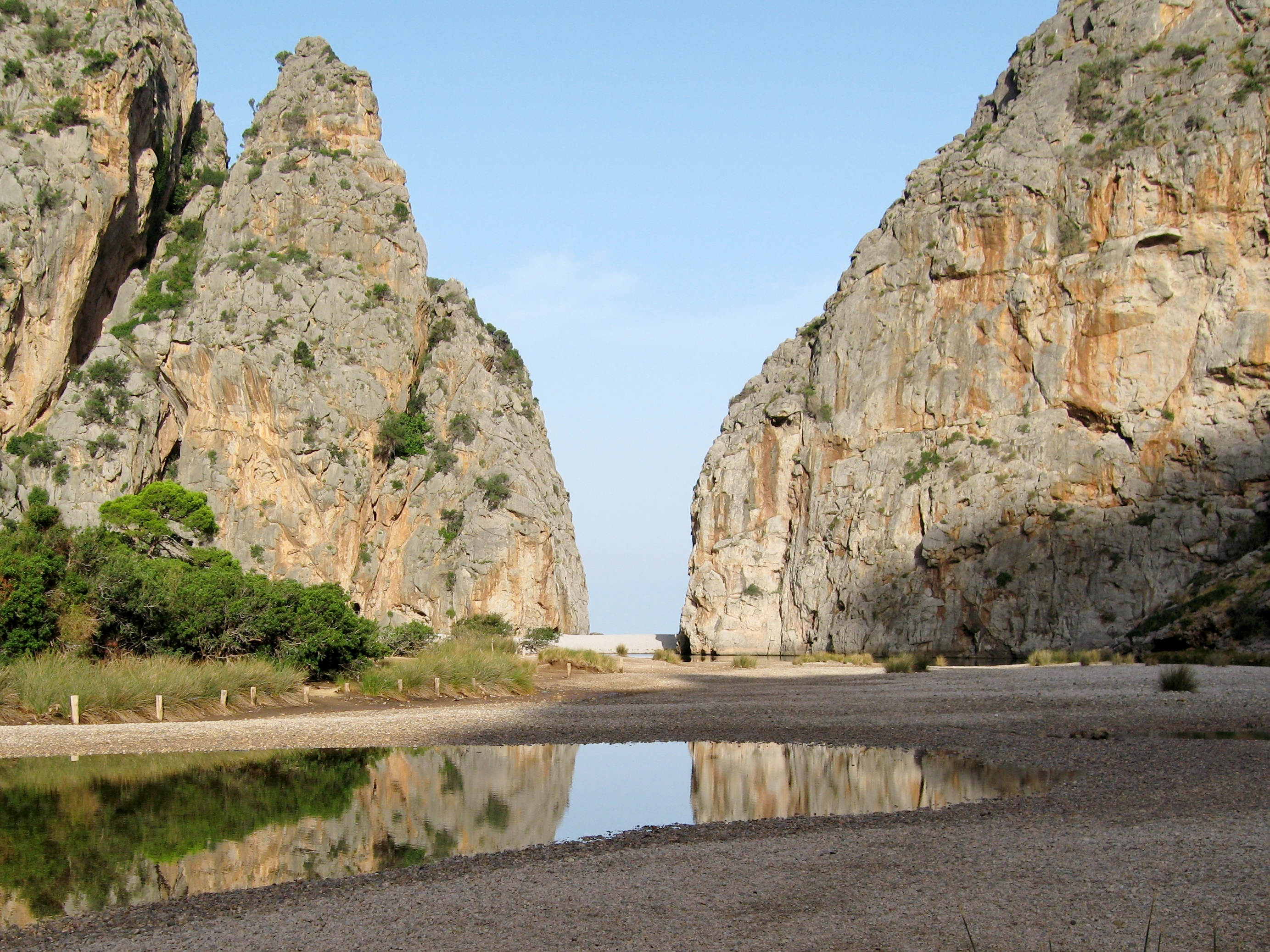 Mündung des Torrent de Pareis