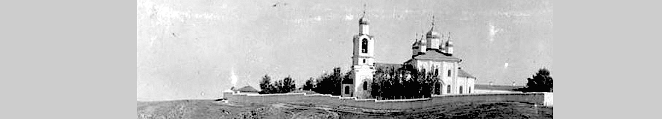 Вид Новоспасского монастыря в Москве.