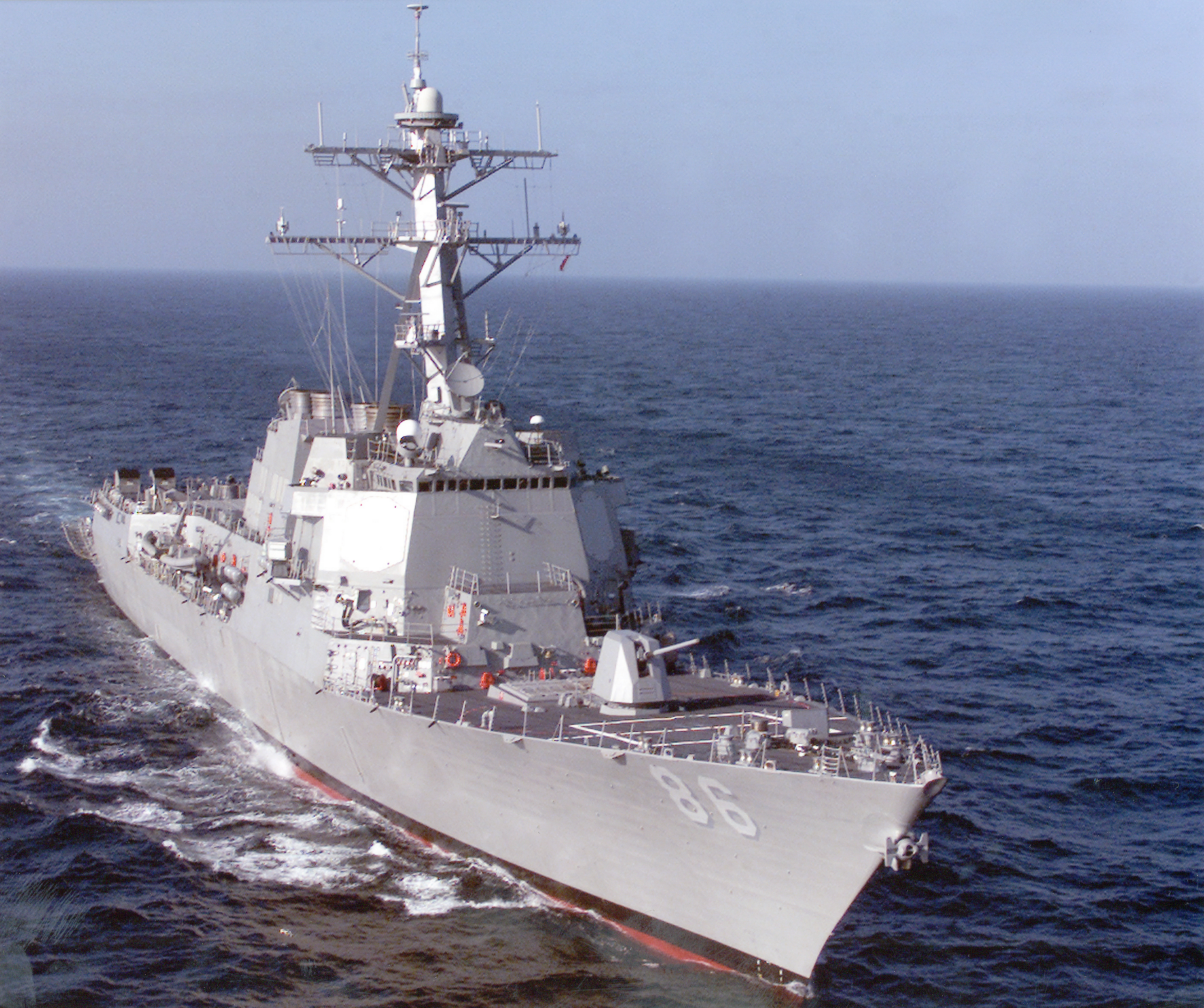 USS Shoup underway in the Gulf of Mexico.