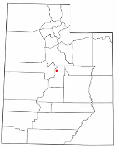Location of Fountain Green, Utah