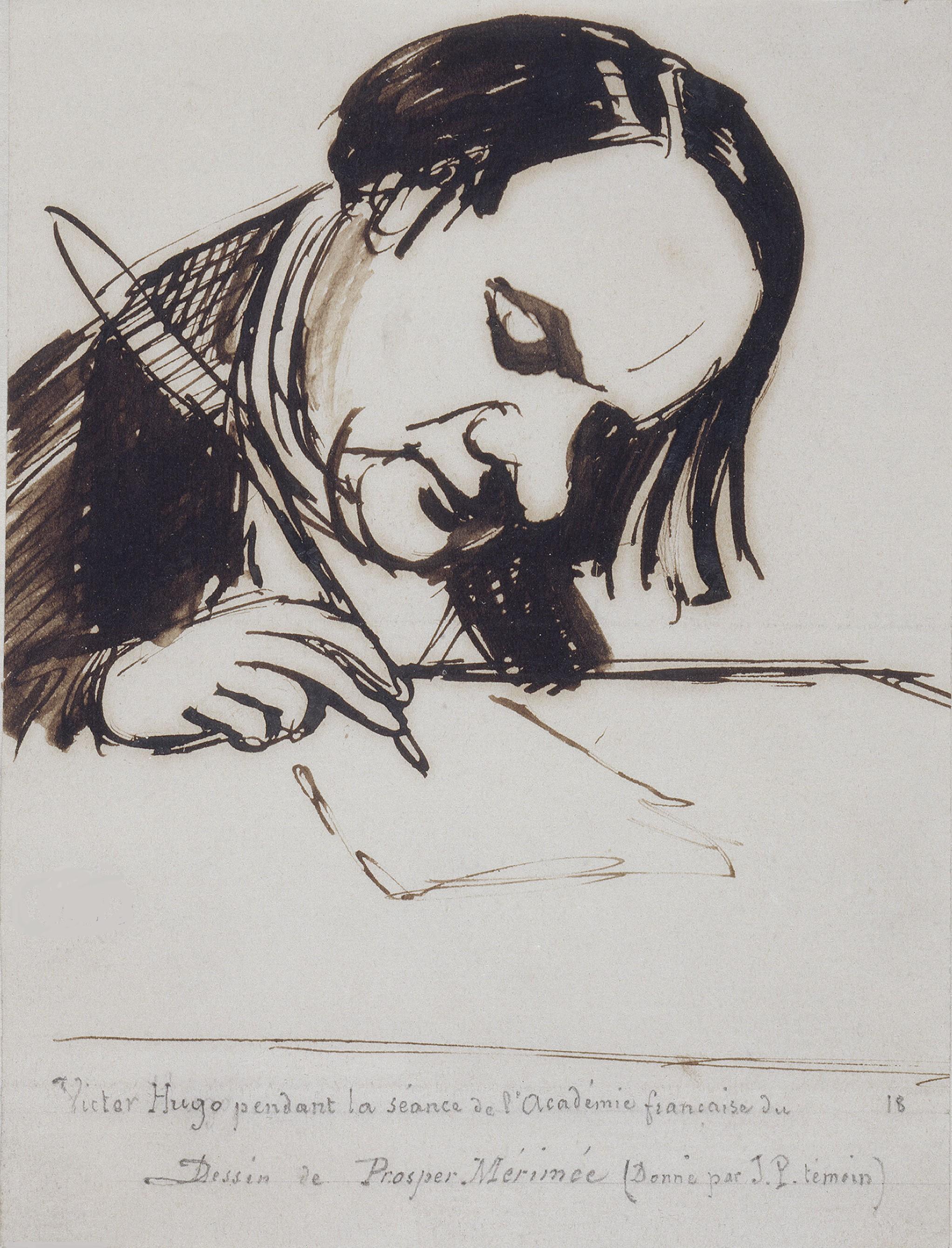 File:Victor Hugo, dessin de Mérimée.jpg