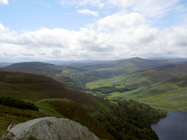 View of the valley between Lough Tay and Lough Dan - geograph.org.uk - 523795