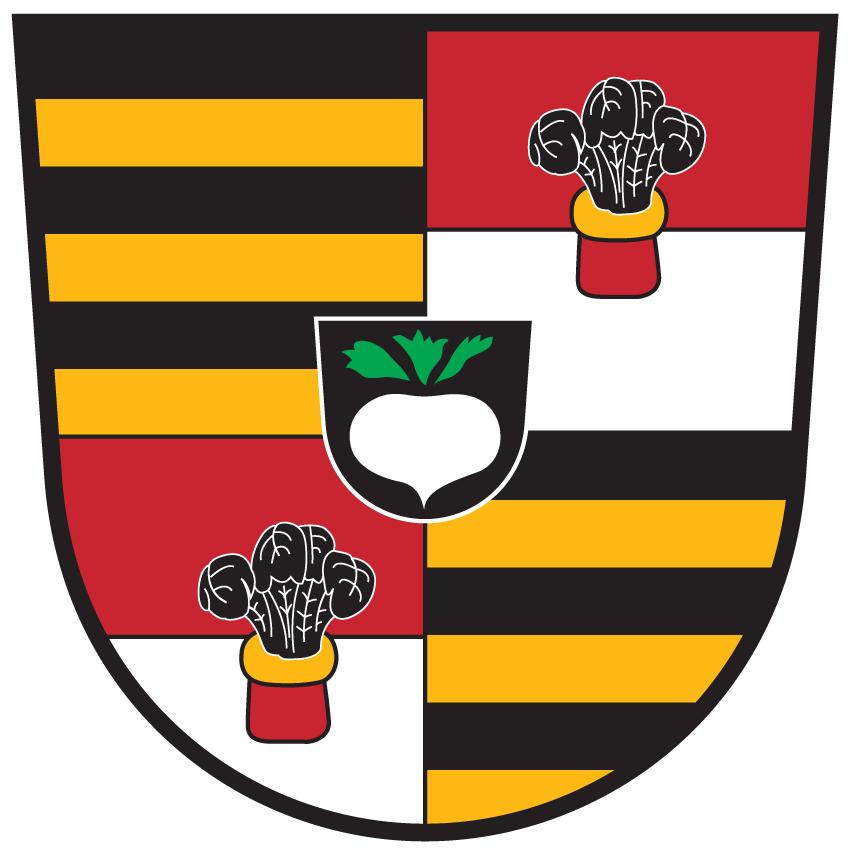 Die Runkelrübe im Wappen der Gemeinde Keutschach am See