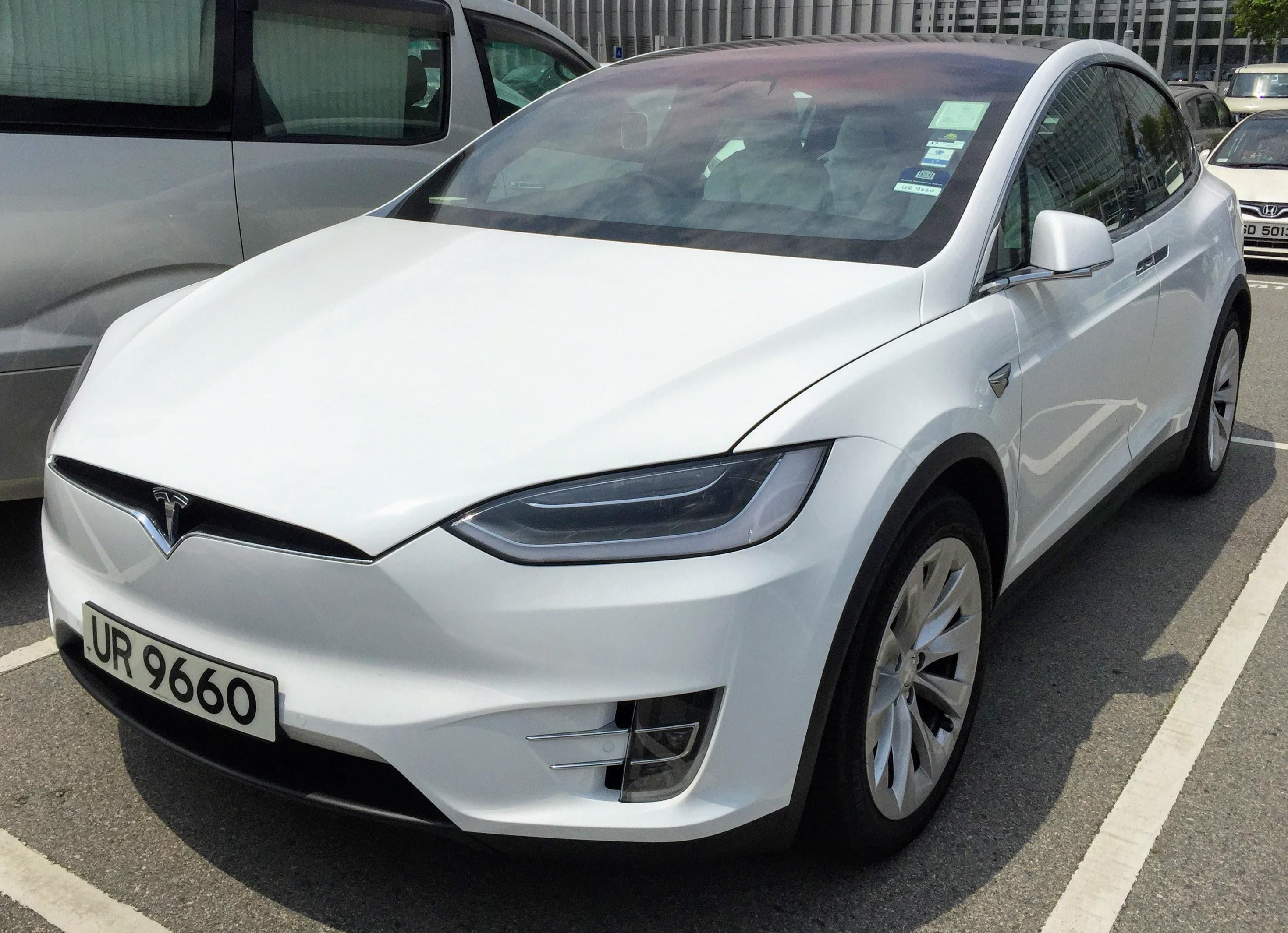 Tesla Model Y Wikipedia: File:White Tesla Model X 2016.jpg