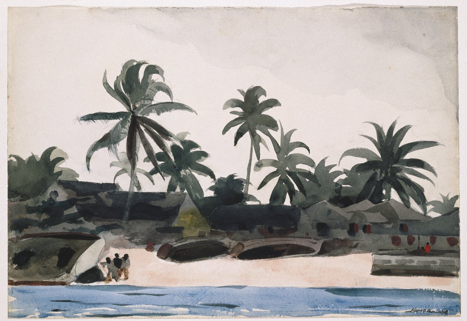 Superbe File:Winslow Homer   Key West, Negro Cabins And Palms (1898).