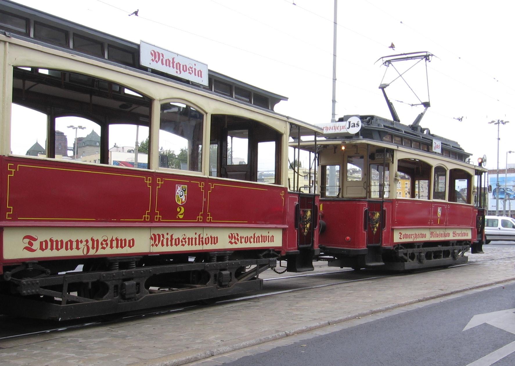 Wroclaw tramwaje Jas Malgosia