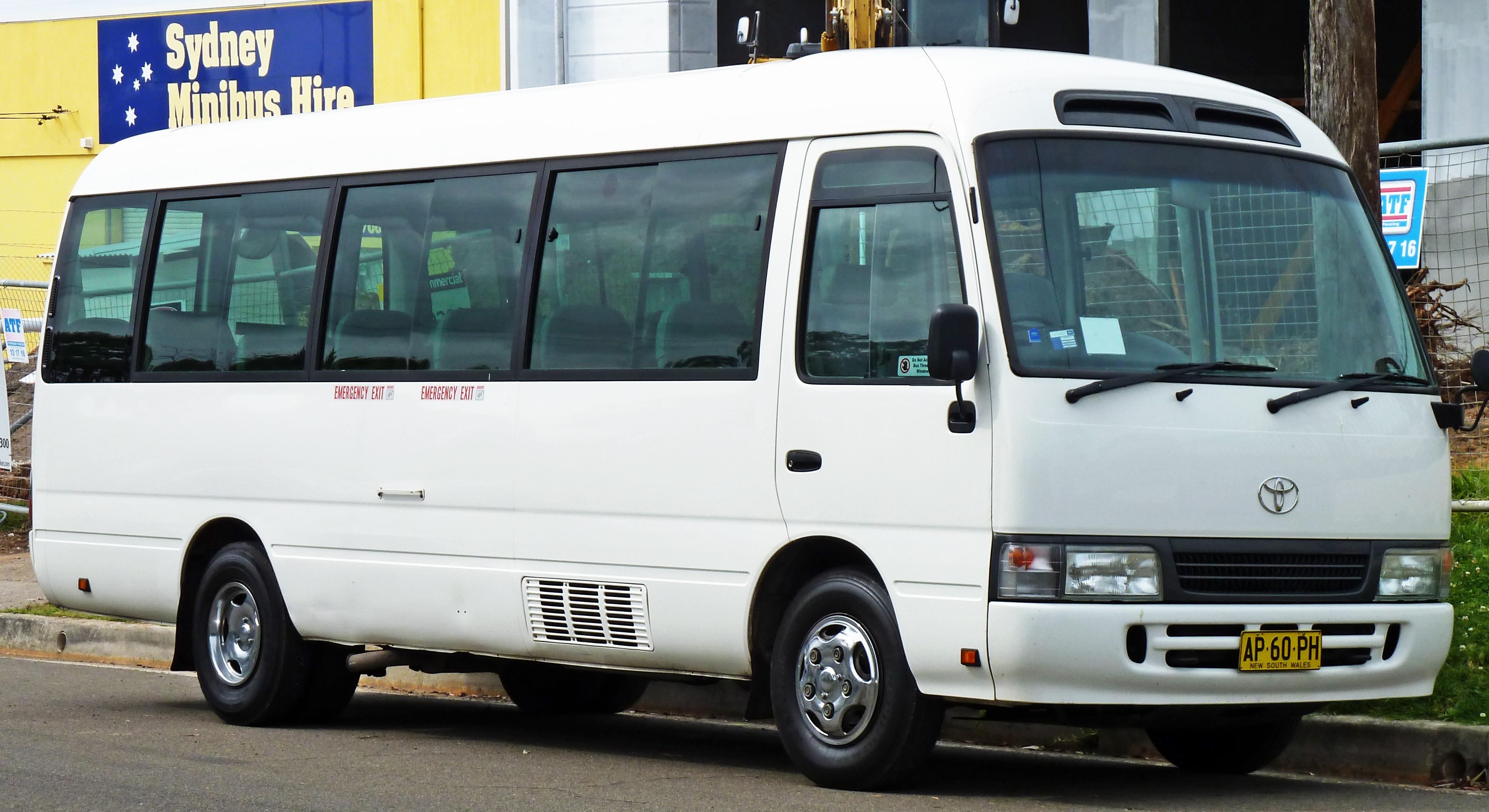 7e9b3b1121 File 2001-2007 Toyota Coaster bus 01.jpg - Wikimedia Commons