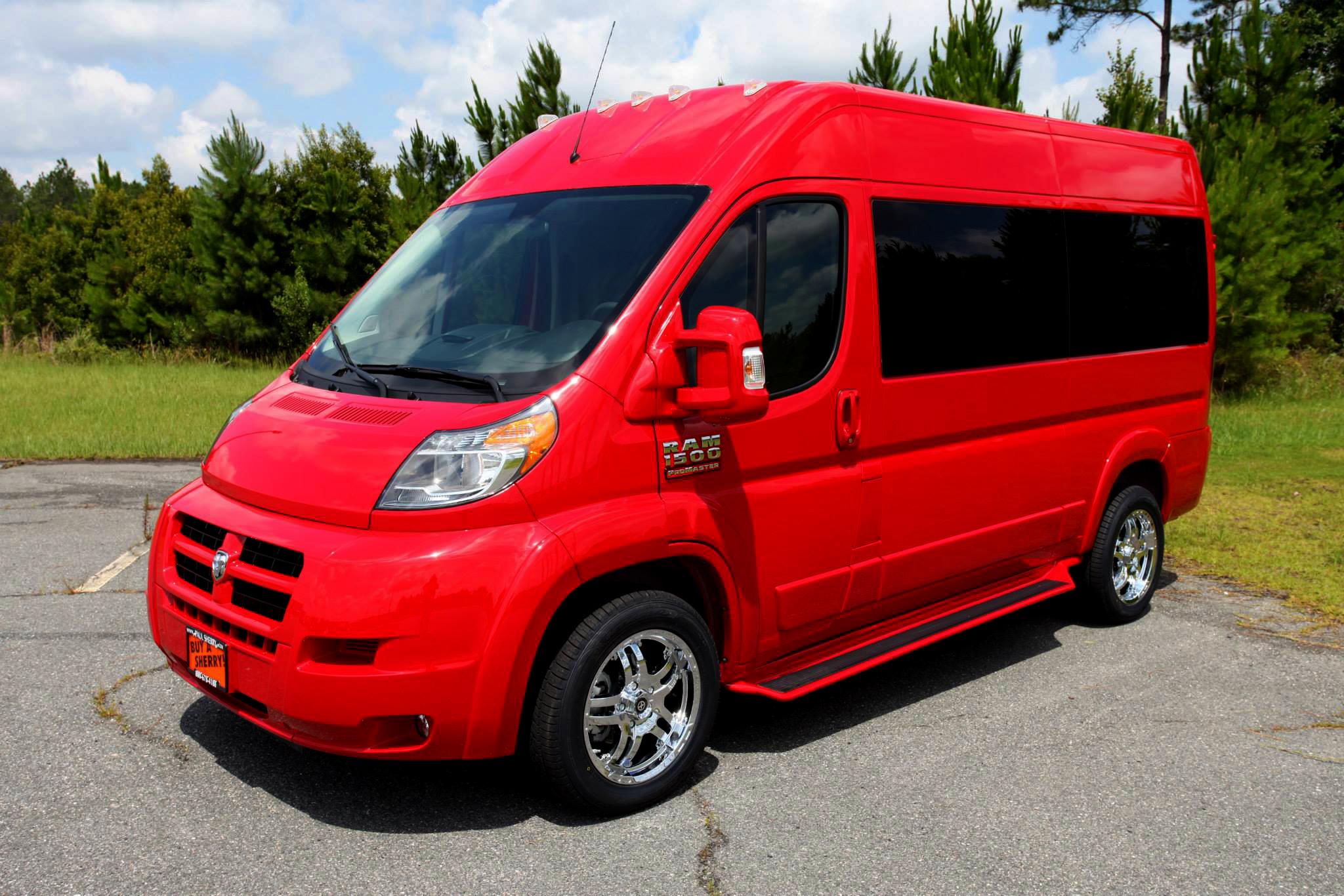 File 2014 Sherry Vans Red High Top Conversion Van On