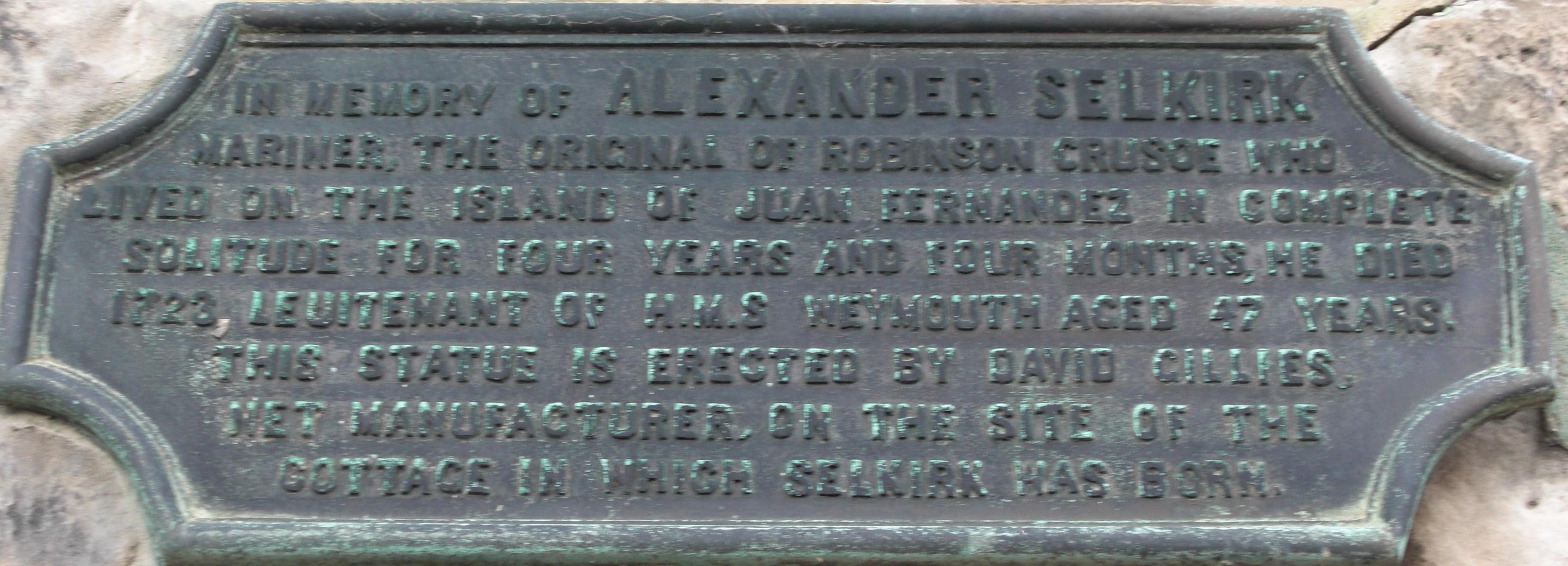 Alexander Selkirk: brief biography