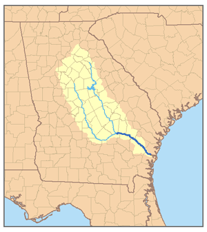 Image result for map of Altamaha River