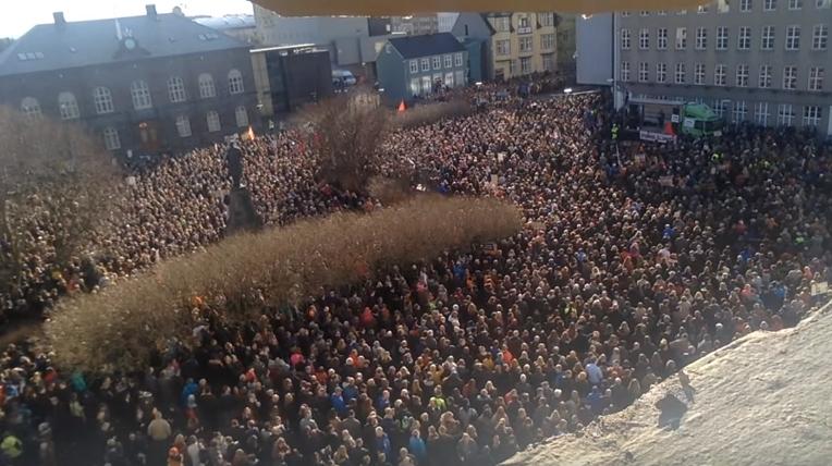 2016 icelandic antigovernment protests wikipedia