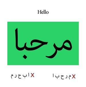 Test for integrity of Arabic script.