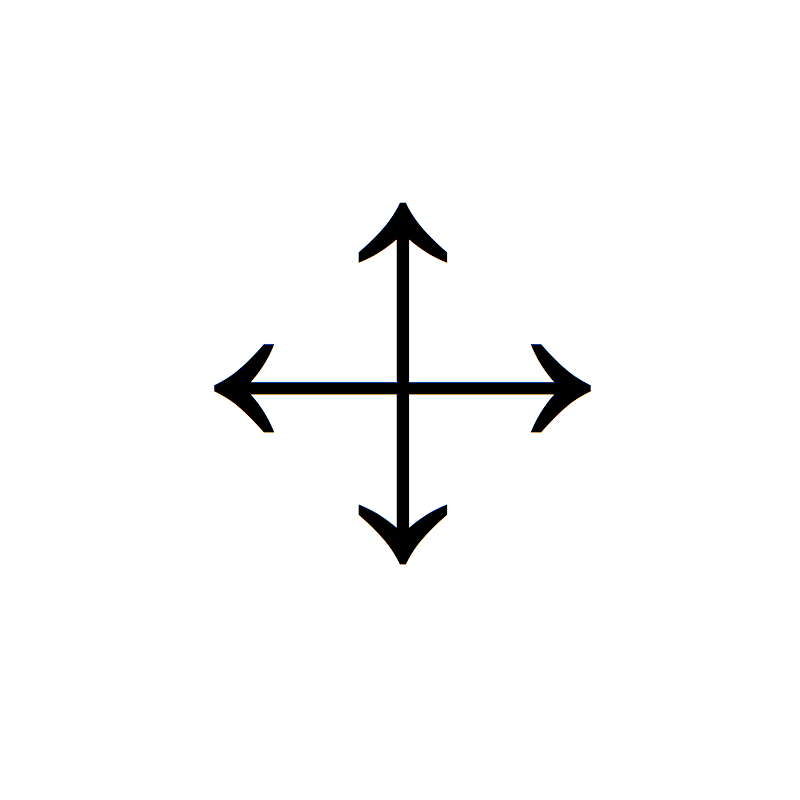 File Arrows Cross Short Png Wikimedia Commons