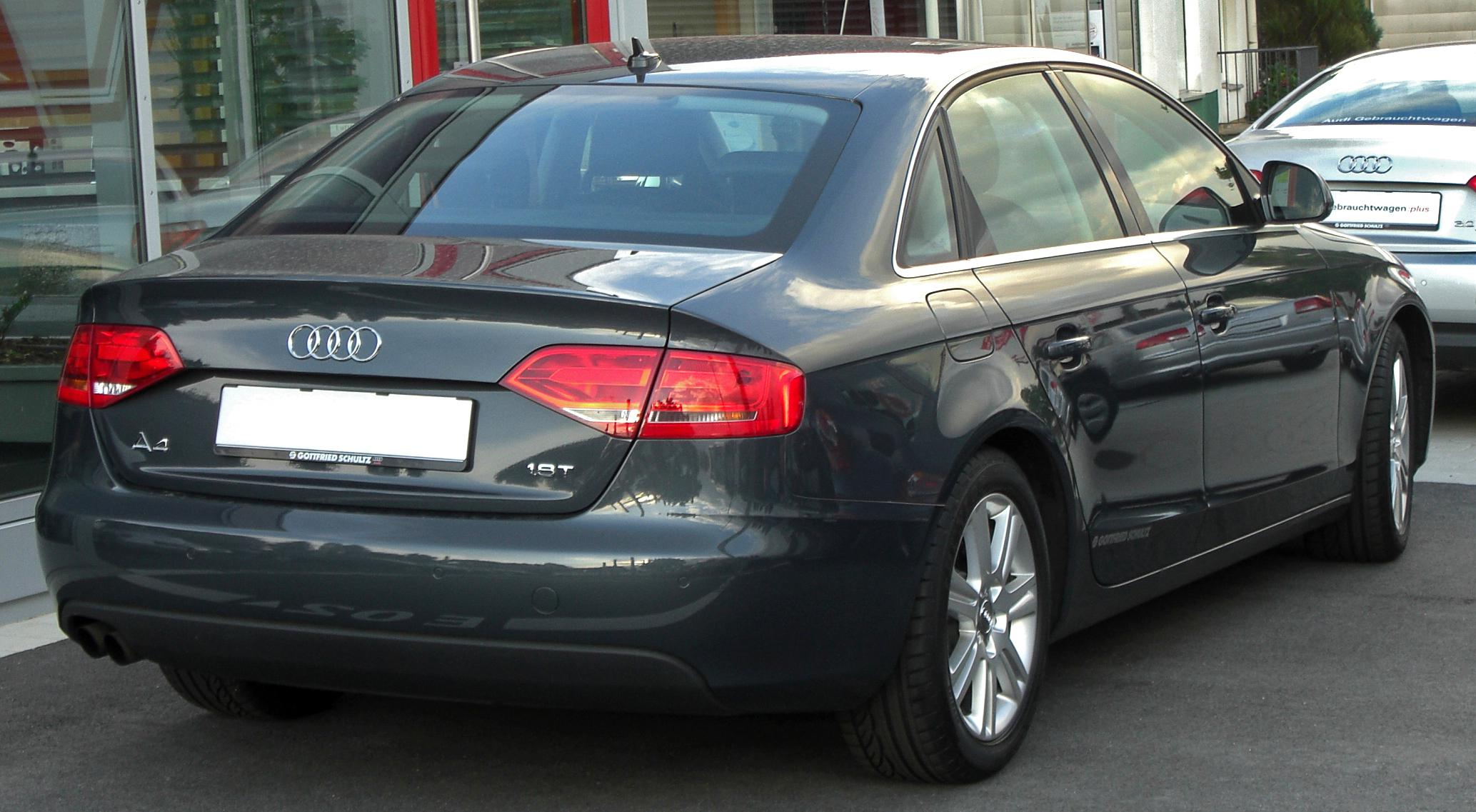 File Audi A4 B8 1 8t Rear Jpg Wikimedia Commons