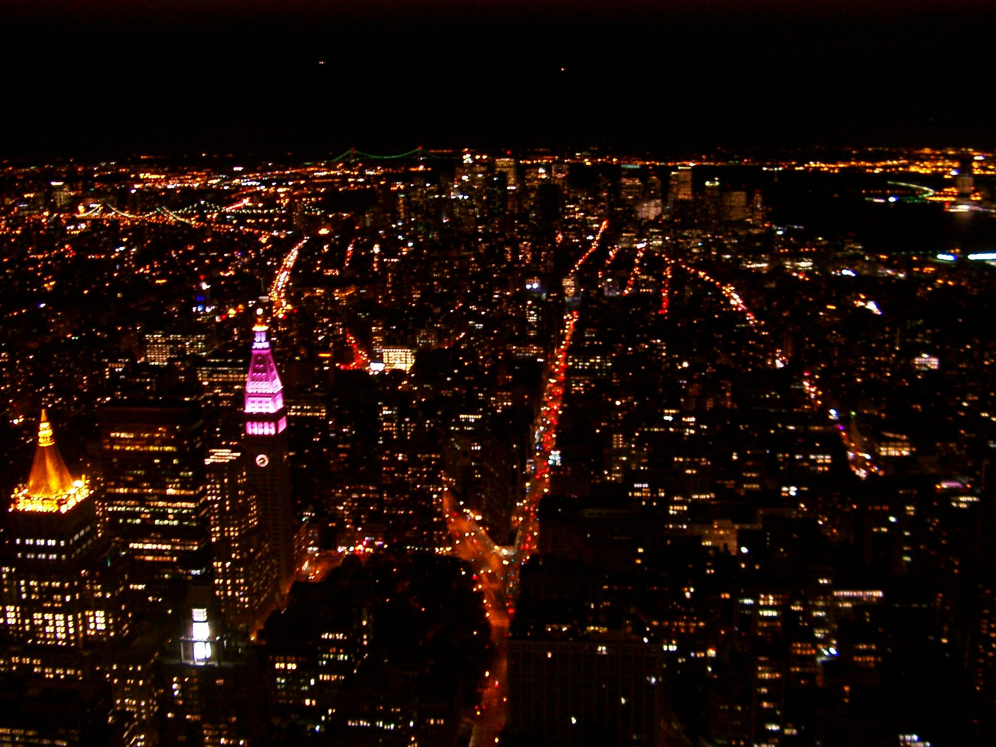 Empire State Building Bei Nacht Aussicht