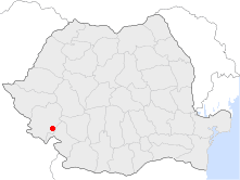 Location of Băile Herculane