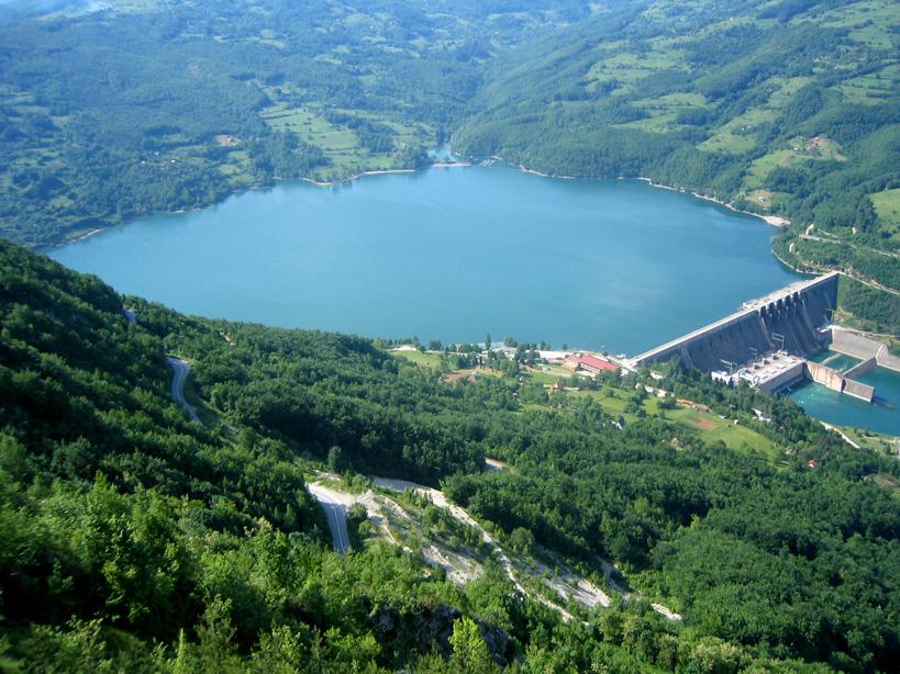 Perućac lake - Wikipedia