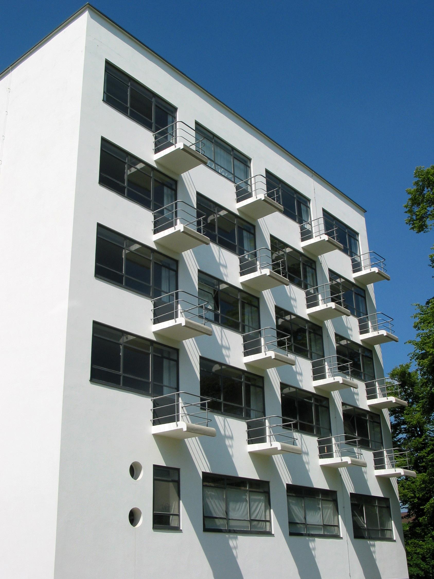 file bauhaus dessau atelierhaus wohnheim wikimedia commons. Black Bedroom Furniture Sets. Home Design Ideas