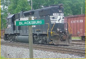 The railroad played a major role in the history of Blacksburg.