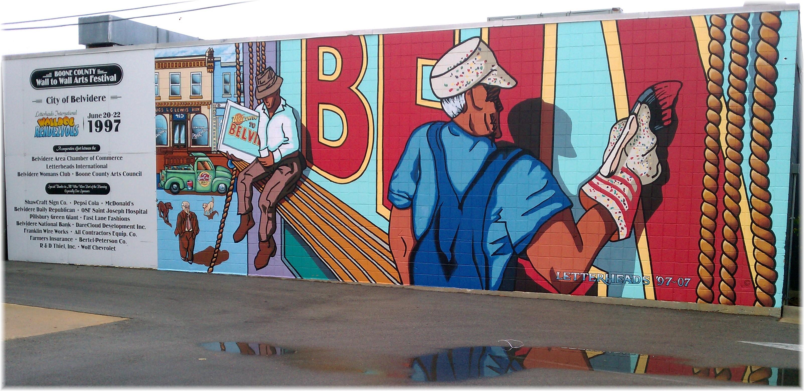 Illinois boone county belvidere - File Belvidere Il City Of Murals Walking Tour Panoramio Jpg