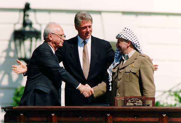 Free Palestine Bill_Clinton%2C_Yitzhak_Rabin%2C_Yasser_Arafat_at_the_White_House_1993-09-13