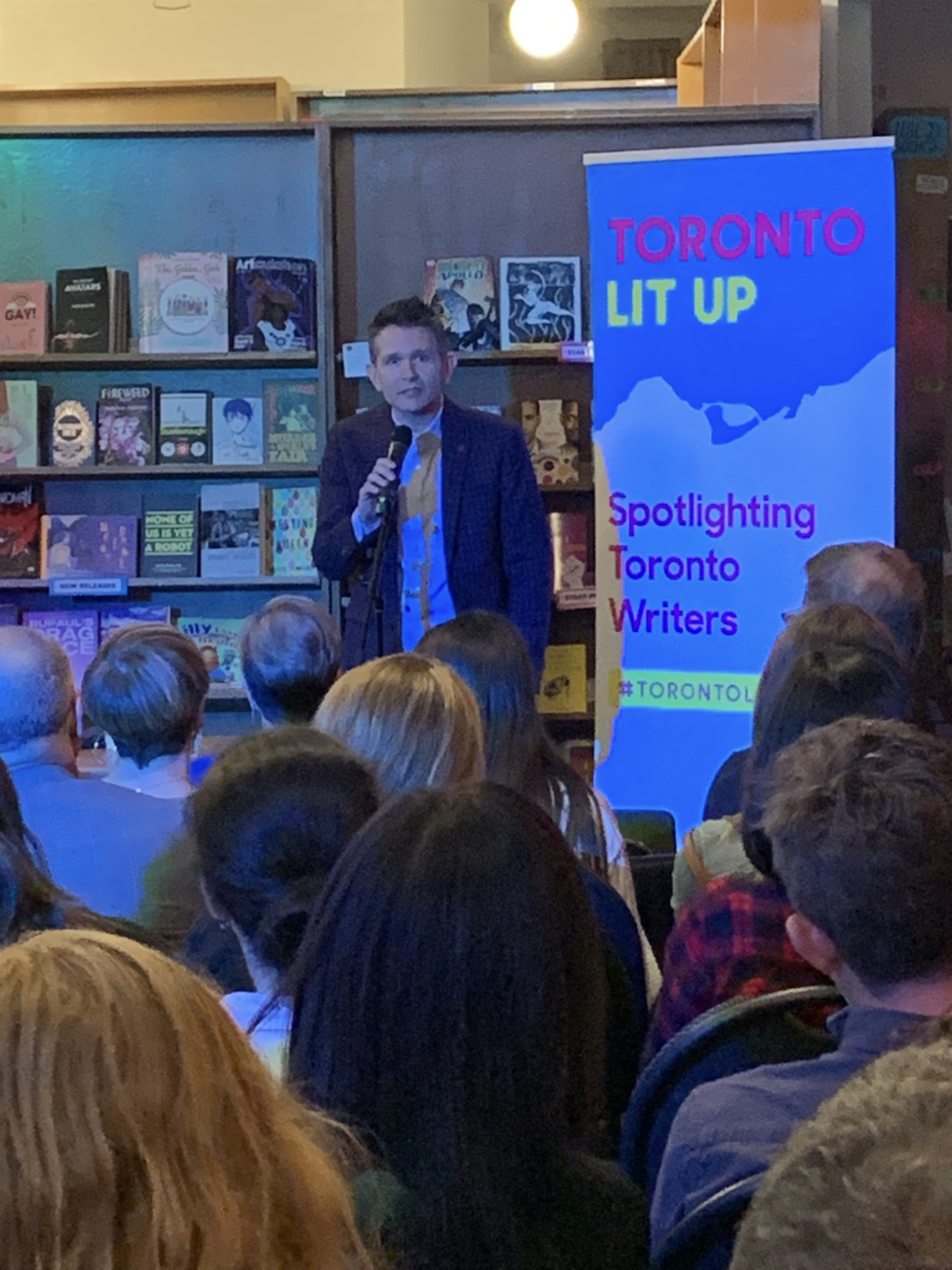 Francis speaking at Glad Day Bookshop in Toronto in 2019