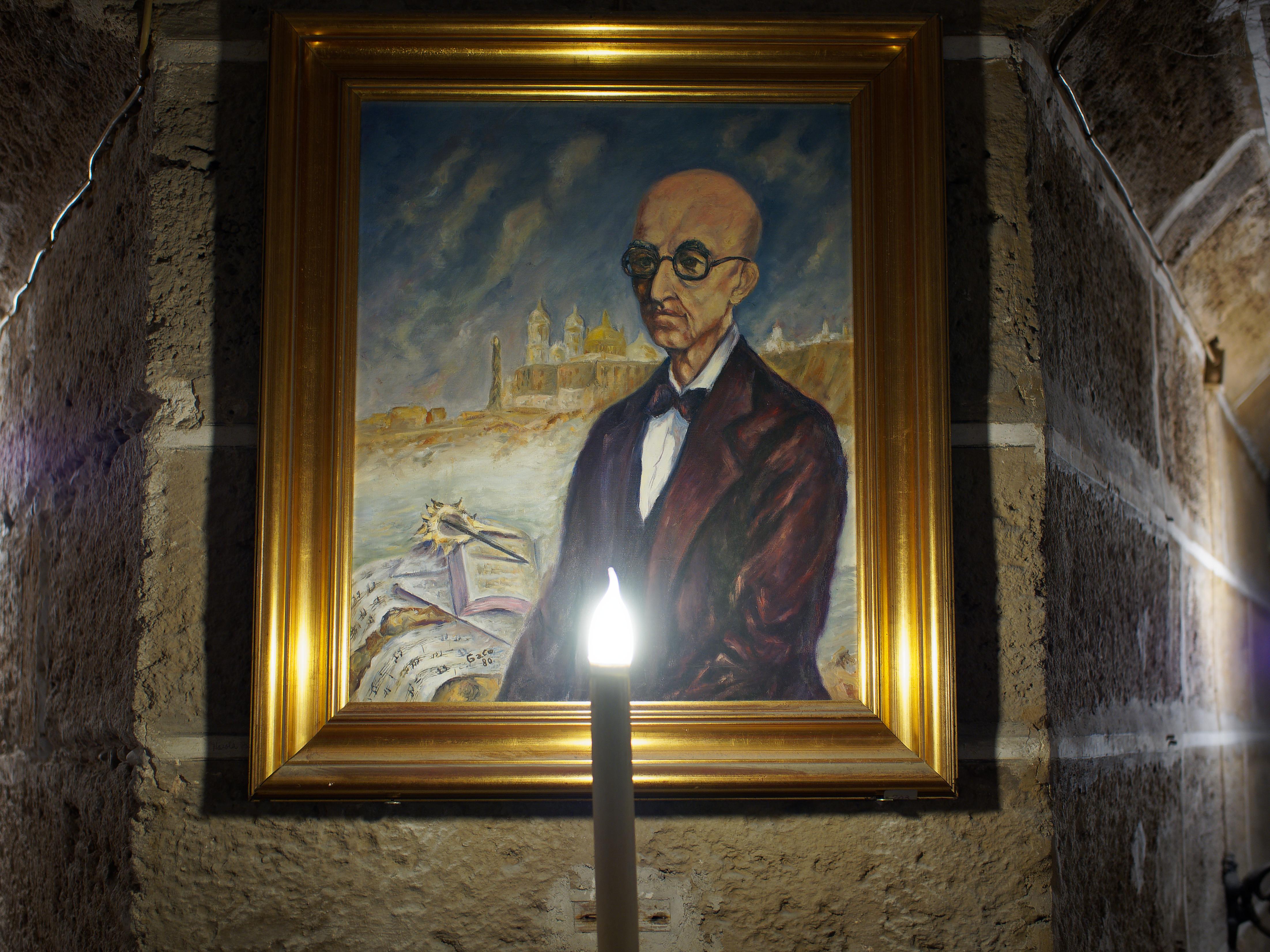 Retrato pintado en Cripta Catedral de Cádiz