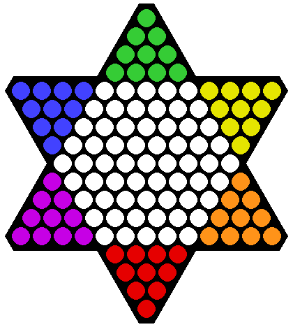 Damas chinas wikipedia la enciclopedia libre for Chinese checkers board template