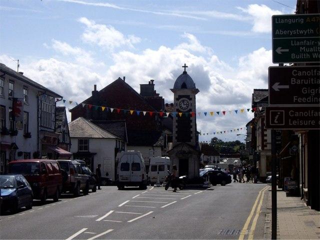 Clock Tower, Rhayader - geograph.org.uk - 508898